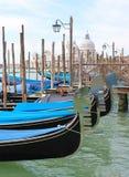 Venice - moored Gondolas Royalty Free Stock Photo