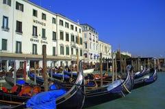 Venice moored gondolas Royalty Free Stock Photo