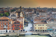 Venice in the morning. Panoramic view of Venice in the morning Royalty Free Stock Photos