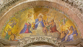 Venice - mosaic over portal of st. Mark cathedral Royalty Free Stock Image