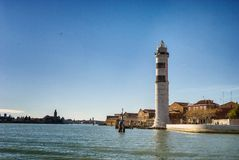 Venice, Murano, lighthouse Stock Image