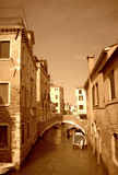 Venice narrow canal Stock Images