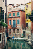 Venice narrow water channel Royalty Free Stock Images