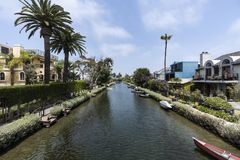 Venice Neighborhood Canals in Los Angeles California Stock Photos