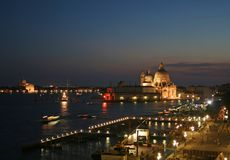 Venice at night. A romantic Venice at night shot Stock Images