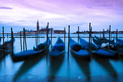Venice by night. Fall of the night in Venice royalty free stock photography