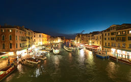 Venice at night. Grand Canal at night, Venice. Italy Stock Image