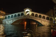 Venice Rialto Bridge Stock Photo