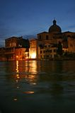Venice at night. The San Geremia church at night in Venice Stock Photo