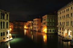 Venice Night. A night scene of the main canal in Venice, Italy Stock Image