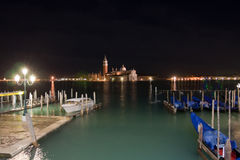 Venice at night. A view over Venice in the night Royalty Free Stock Photography
