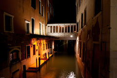 Venice by night. In italy, one of the most beutiful city in the world Royalty Free Stock Photography