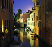 Venice at the night Stock Images