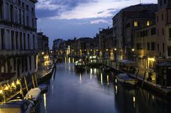 Venice in the night Stock Photography