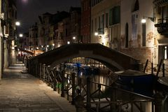 Venice by night royalty free stock photos