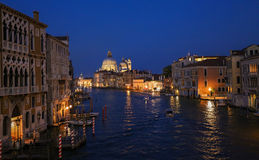 Venice by night. Grand canal Royalty Free Stock Image