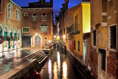 Venice in the night, Italy Royalty Free Stock Photo