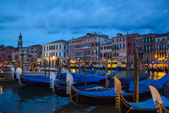 Venice night life Royalty Free Stock Photo