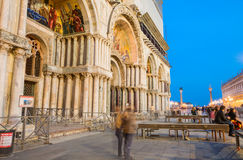 Venice night lights in St Mark Square Stock Photography