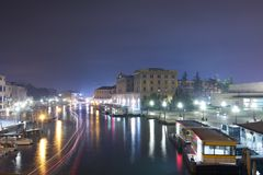 Venice night long-exposure Royalty Free Stock Photo