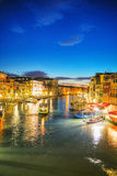 Venice at night time Royalty Free Stock Images