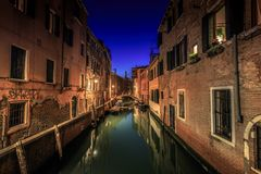 Venice by night stock photos