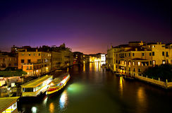 Venice at night, Venice Royalty Free Stock Photos