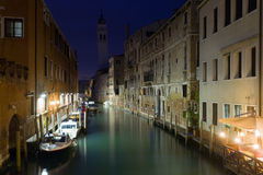 Venice night view Royalty Free Stock Photos