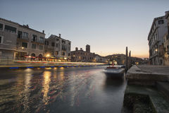 Venice night view Stock Photography