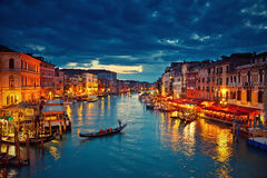 Venice at night Royalty Free Stock Images