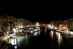 Venice night view from rialto Royalty Free Stock Photography