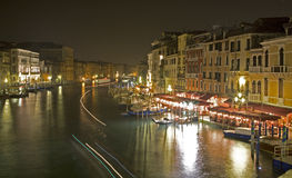 Venice - nightly look from Ponte Rialto Stock Images