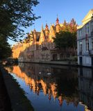 Venice of the North Bruges, Belgium stock photography