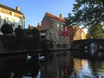 Venice of the North Bruges, Belgium stock images
