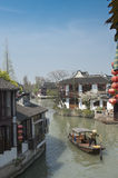 Venice Of The East - Zhujiajiao - Canal Near Shanghai With Ancient Houses Royalty Free Stock Image