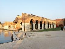 venice 18 oktober 2014: padiglione italia Royaltyfri Bild
