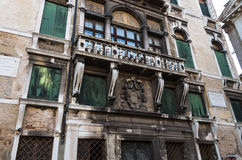 Venice 8. Old buiding on venice canal front showing signs of wear and tear Stock Images