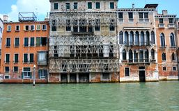 Venice old building and canal , Italy Stock Photos