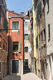 Venice, old houses Stock Photography