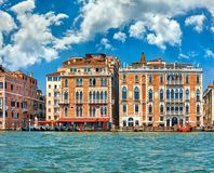 Venice old houses on Grand Canal Royalty Free Stock Photo