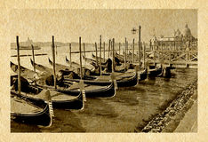 Venice old postcard Stock Image
