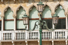 Venice: Old style street lamp Stock Photo