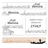 Venice Online Marketing Banner Layout Stock Photography