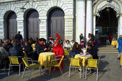 Venice outdoor cafe Royalty Free Stock Photography