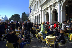 Venice outdoor cafe Royalty Free Stock Images