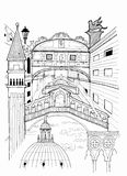 Venice outline drawing Royalty Free Stock Image