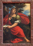Venice - Paint of st. John the evangelist in church Santa M Stock Images