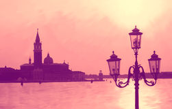 Venice, painted Royalty Free Stock Images