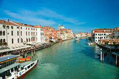 Venice, Palace on Grand Canal. Stock Photo
