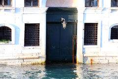 Venice palace during high tide Stock Photography